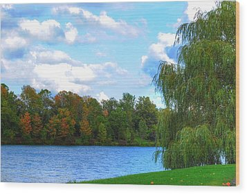 Wood Print featuring the photograph Autumn At Hoyt Lake by Michael Frank Jr
