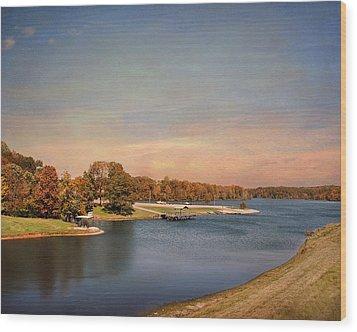 Autumn At Lake Graham 2 Wood Print by Jai Johnson