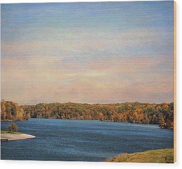 Autumn At Lake Graham Wood Print by Jai Johnson