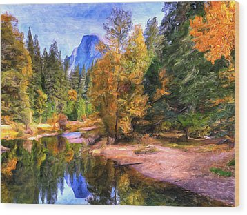 Autumn At Yosemite Wood Print by Dominic Piperata