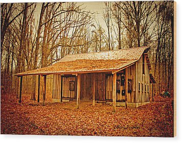 Wood Print featuring the photograph Autumn Barn by Mary Timman