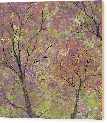 Autumn Blush Wood Print