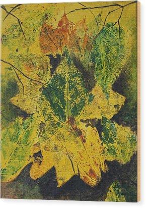 Autumn Boquet Wood Print