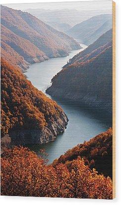 Autumn Creek Wood Print by Mavroudakis Fotis Photography