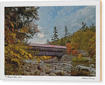 Wood Print featuring the photograph Autumn Crossing by Richard Bean