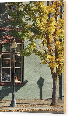 Wood Print featuring the photograph Autumn Detail In Old Town Grants Pass by Mick Anderson