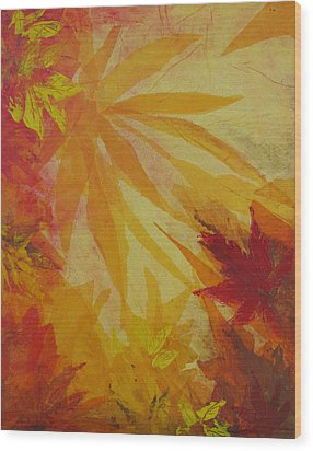 Autumn Essence Wood Print