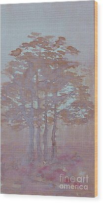 Autumn Fog Wood Print by Anna Folkartanna Maciejewska-Dyba