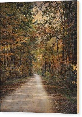 Autumn Forest 3 Wood Print by Jai Johnson