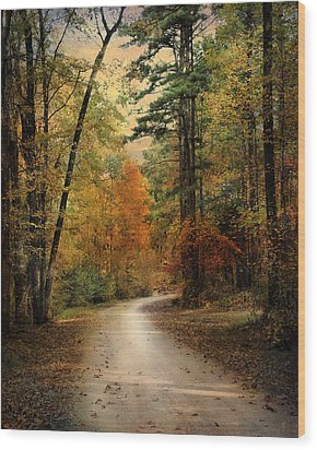 Autumn Forest 4 Wood Print by Jai Johnson