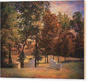 Autumn Gate Wood Print by Jai Johnson