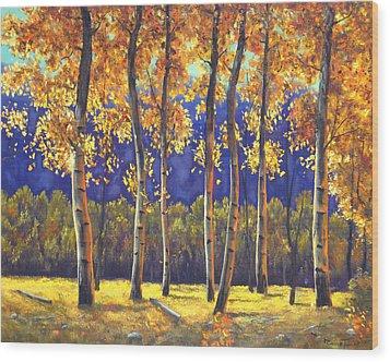 Autumn Glow Wood Print by Connie Tom