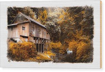 Autumn Grist Wood Print by Steve McKinzie