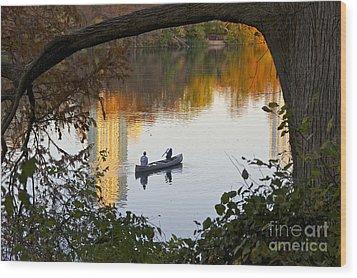 Autumn Idyll On Lake Austin Wood Print by Sean Griffin