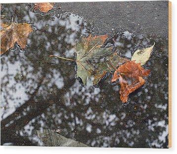 Autumn In New York City Wood Print by Chris Ann Wiggins