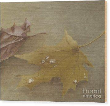 Autumn Leaves Wood Print by Annemeet Hasidi- van der Leij
