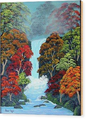 Autumn Leaves Wood Print by Fram Cama