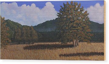 Autumn Meadow Wood Print