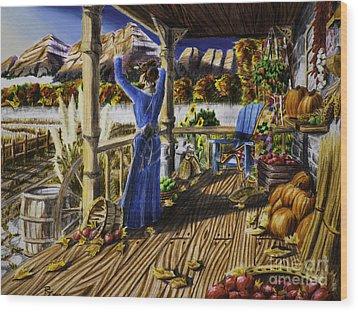 Autumn Morning Wood Print by Robert Thornton