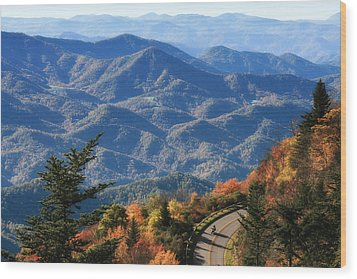 Autumn On The Blue Ridge Parkway Wood Print by Lynne Jenkins
