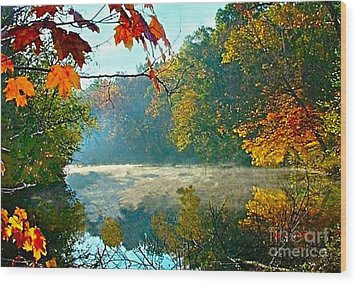 Autumn On The White River I Wood Print by Julie Dant