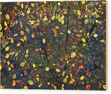 Autumn Reconstructed Wood Print