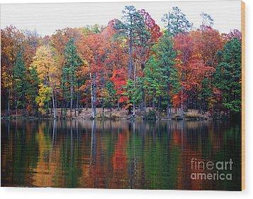 Autumn Reflected  Wood Print