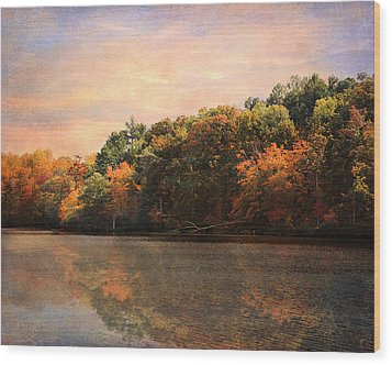 Autumn Reflections 2 Wood Print by Jai Johnson