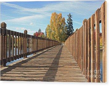 Autumn Shadows Wood Print by Kami McKeon
