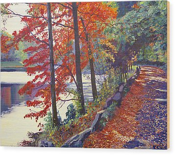 Autumn Sonata Wood Print by David Lloyd Glover