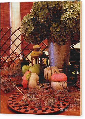 Autumn Still Life  2 Wood Print by Tanya  Searcy