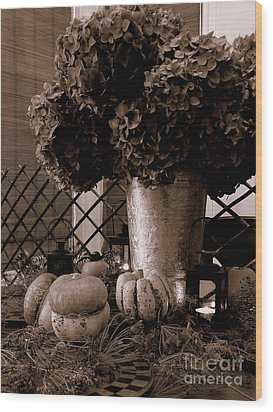 Autumn Still Life  3 Wood Print by Tanya  Searcy