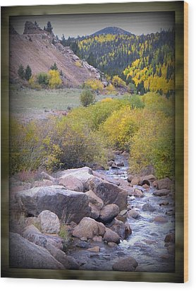 Wood Print featuring the photograph Autumn Stream by Michelle Frizzell-Thompson