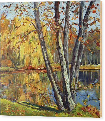 Autumn Sunlight Wood Print