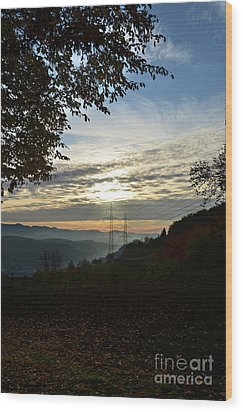 Autumn Sunset 3 Wood Print by Bruno Santoro