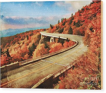 Autumn Views Wood Print by Darren Fisher