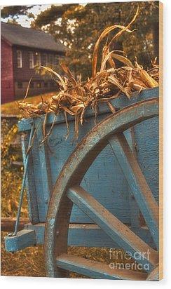 Autumn Wagon Wood Print by Joann Vitali