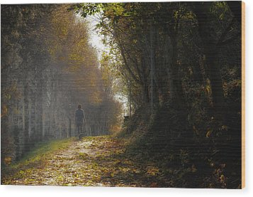 Autumn Way Wood Print by Jaroslaw Oleksyk