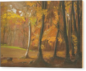 Autumn Woods 5 Wood Print by Paul Mitchell