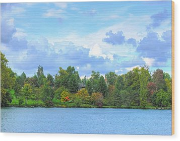 Wood Print featuring the photograph Autumn's Beauty At Hoyt Lake by Michael Frank Jr