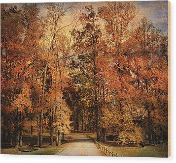 Autumn's Entrance Wood Print by Jai Johnson