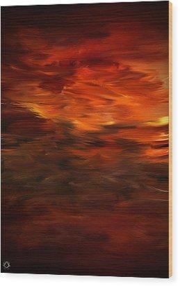 Autumn's Grace Wood Print by Lourry Legarde