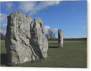 Avebury Stones Wood Print by Adrian Wilkins