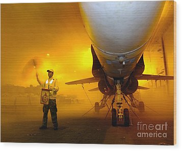 Aviation Boatswains Mate Waves Class Wood Print by Stocktrek Images