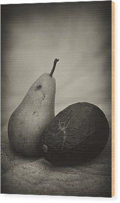 Wood Print featuring the photograph Avocado And Pear by Hugh Smith