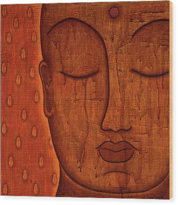 Wood Print featuring the mixed media Awakened Mind by Gloria Rothrock