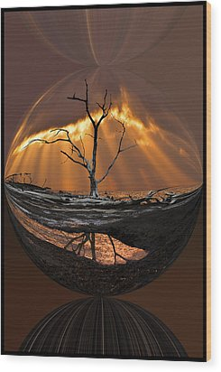 Awakening Wood Print by Debra and Dave Vanderlaan