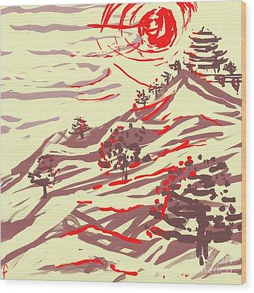 Awakening Hill Wood Print by MURUMURU By FP