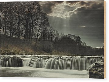 Aysgarth Falls Yorkshire England Wood Print by John Short