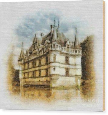 Azay Le Rideau Wood Print by Mo T